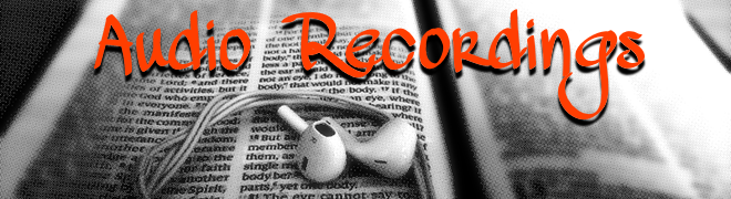 Audio Recording page header